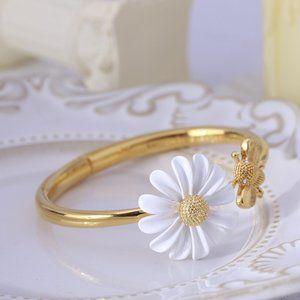 Kate Spade Daisy Flower Little Bee Open Bracelet